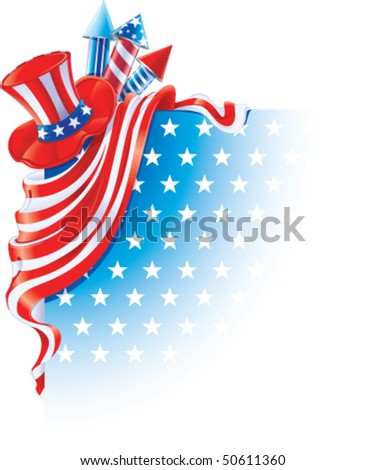 corner design for Independence Day - stock vector