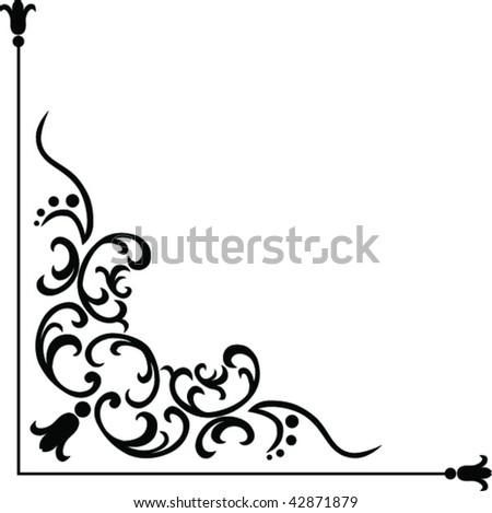 corner graphic elements for design - stock vector
