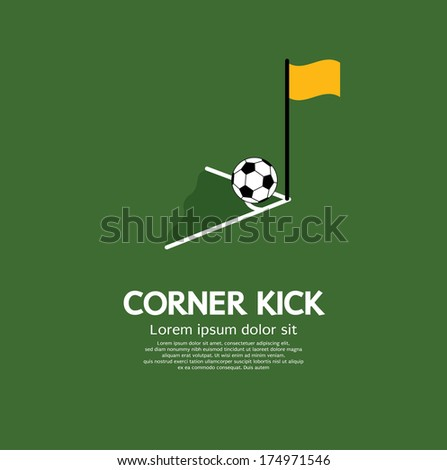 Corner Kick Vector Illustration - stock vector