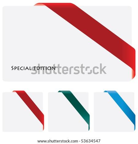 corner ribbon - stock vector
