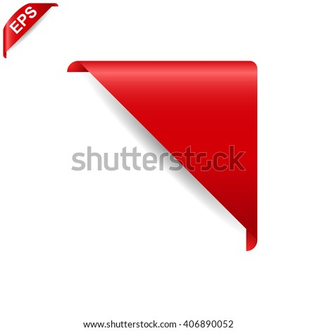 corner ribbon, Corner Banner, vector tag isolated on background - stock vector