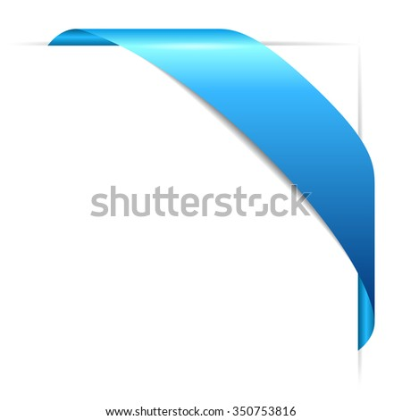 Corner ribbon vector illustration isolated on white background