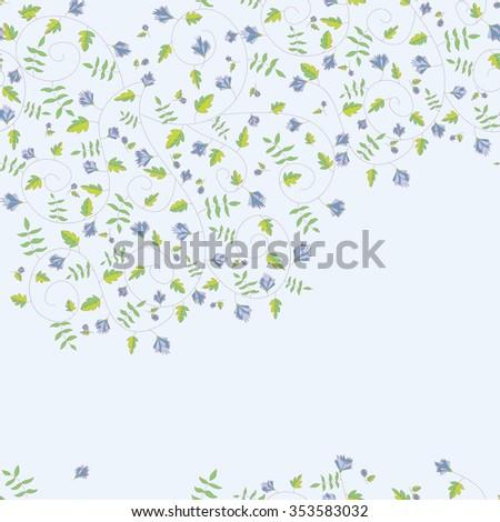 Cornflower pattern. Vector seamless texture - stock vector