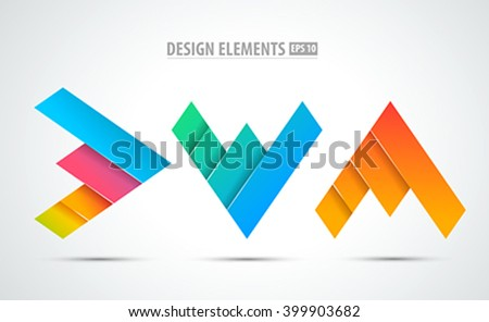 Corporate abstract vector logo icons. Success sign. Business success. Grows business