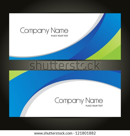 Corporate Banner sets, Cover page design, Colorful waves, eps 10 - stock vector