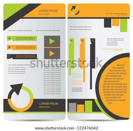 corporate brochure design - stock vector