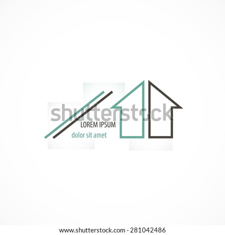 Corporate building company logo concept design art - stock vector