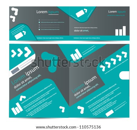 corporate business brochure cards - stock vector