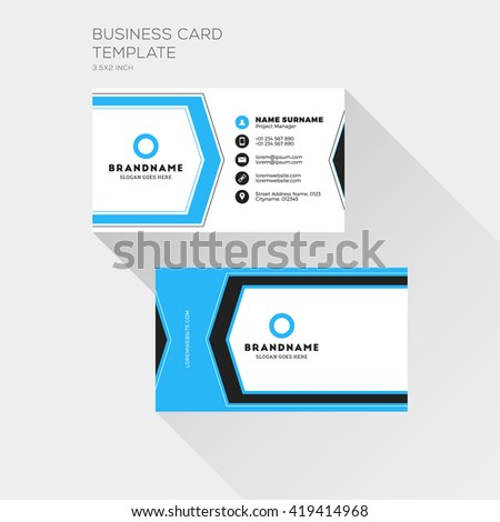 Corporate business card print template personal stock vector corporate business card print template personal visiting card with company logo clean flat design cheaphphosting Image collections