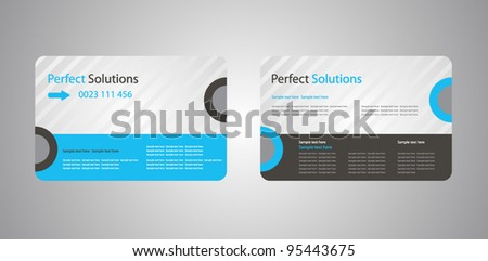 corporate business cards - stock vector