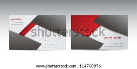 corporate business cards  or visiting card set. - stock vector