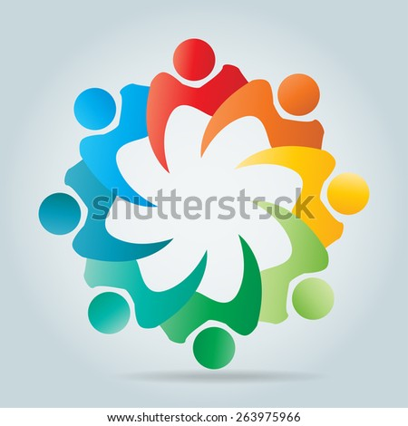 Corporate Business cooperation unity friends icon simple elements logo - Vector Illustration. - stock vector