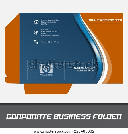 Corporate business folder template document folderdesign stock corporate business folder template document folderdesign with place for your content or creative wajeb Choice Image