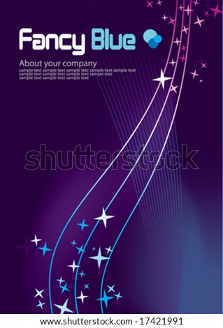 Corporate Business Template Background (Blue star night theme)