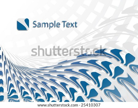 Corporate Business Template Background (Blue wave design)