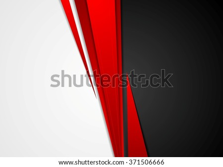 Corporate concept red black grey contrast background. Vector graphic design - stock vector