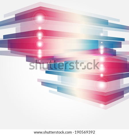 Corporate concept with modern design element - stock vector