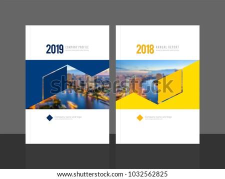 Corporate Cover Design Annual Report Company Stock Vector 1032562825