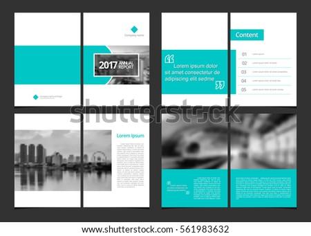 Corporate Design Annual Report Catalog Magazine Stock Vector (2018 ...