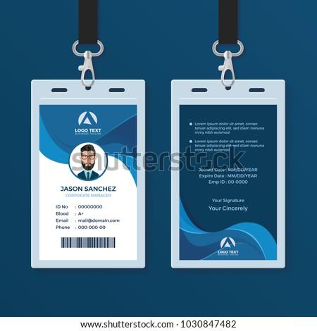 Corporate Id Card Design Template Stock Vector 1030847482