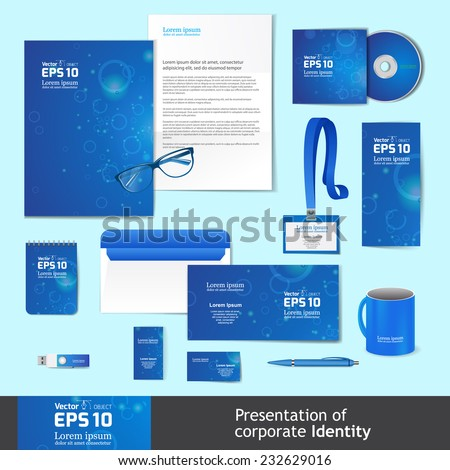 Corporate Identity Business Set - stock vector