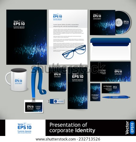 Corporate Identity Business Set - stock vector