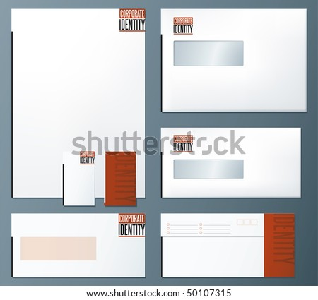 Corporate identity concept template - stock vector