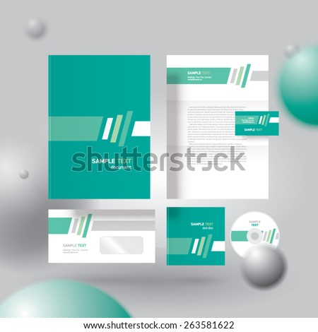 corporate identity design template abstract, cmyk profile - stock vector