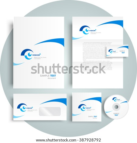Corporate identity design template vision eye