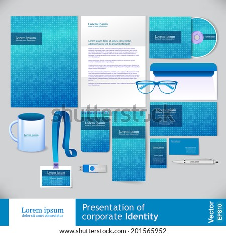 Corporate identity design vector - stock vector