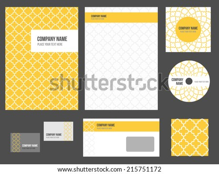 Corporate identity for company or event. Vector template for business stationery set. - stock vector