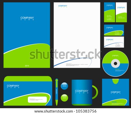 Corporate Identity. Place your Logo. Vector. Editable. - stock vector