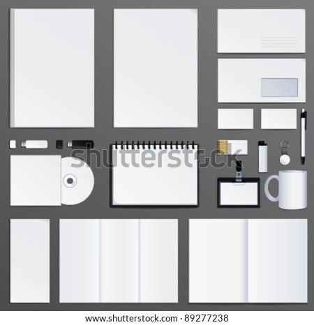 corporate identity presentation of your design - stock vector