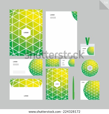 Corporate identity - Stationery set - green