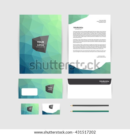 Corporate identity template business stationery stock vector corporate identity template business stationery cheaphphosting Gallery