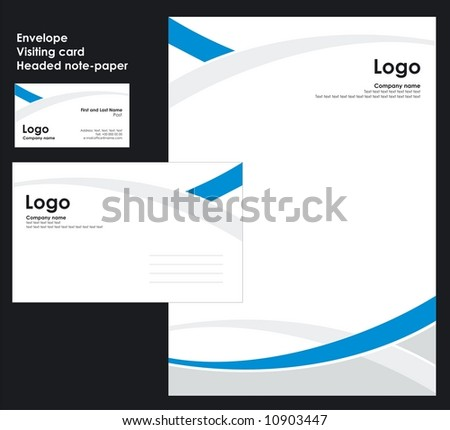 Corporate Identity Template Vector 2 - stock vector