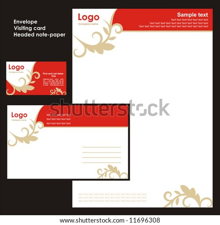Corporate Identity Template Vector 3 - stock vector