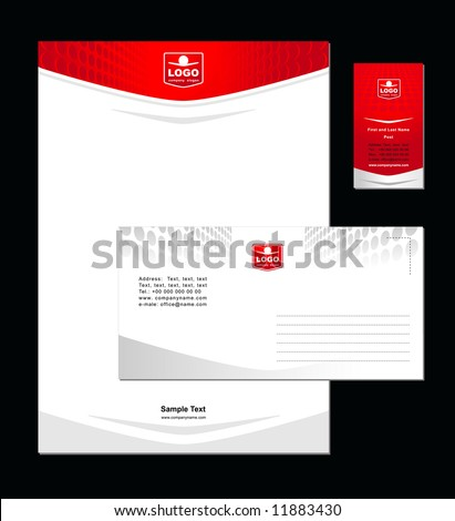 Corporate Identity Template Vector 4 - stock vector