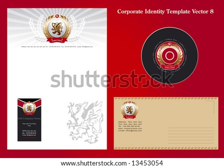 Corporate Identity Template Vector 8 - stock vector