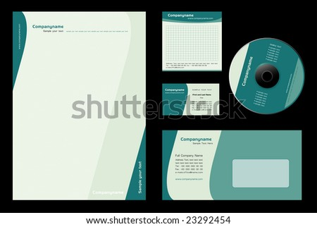 Corporate Identity Template Vector - stock vector