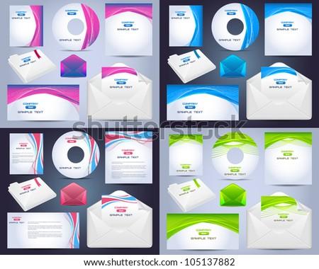 Corporate Identity Template Vector Design - stock vector