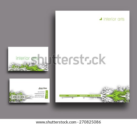 Corporate Identity Template. Vector illustration