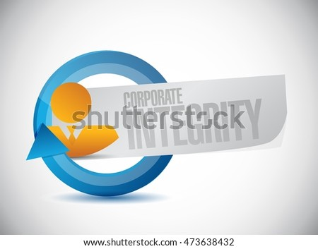 Corporate integrity isolated businessman cycle sign concept illustration design graphic