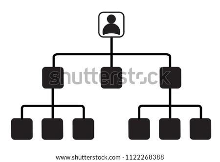 Corporate Ladder Icon On White Background Stock Vector Royalty Free