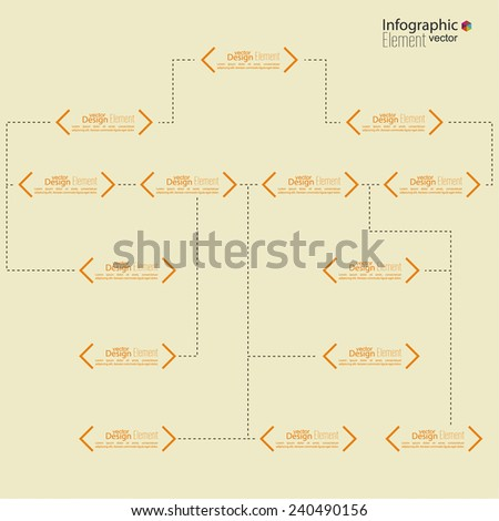 Corporate organization chart template with quotes elements and place for text.  - stock vector