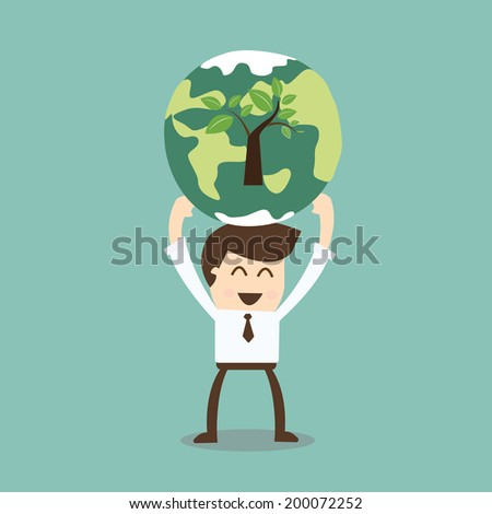 Corporate social responsibility - stock vector