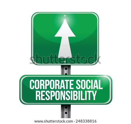 corporate social responsibility illustration design over a white background - stock vector