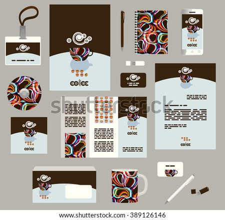 Corporate style business templates. Set of modern abstract graphic design. Seamless patterns included in EPS - stock vector