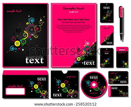 Corporate style 12 templates blank card stock vector 2018 12 templates blank card pen cd note reheart Images
