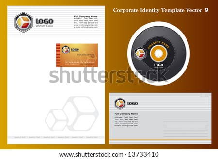 Corporate Vector Business Template 9 - stock vector